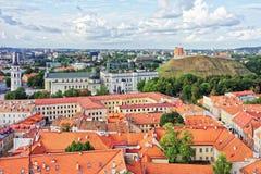 Ανώτερη πλατεία του Castle και καθεδρικών ναών σε Vilnius στη Λιθουανία Στοκ Φωτογραφία