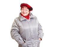 ανώτερη χειμερινή γυναίκα  Στοκ εικόνα με δικαίωμα ελεύθερης χρήσης