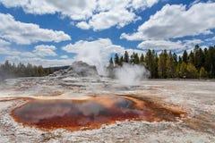Ανώτερη geyser λεκάνη, εθνικό πάρκο Yellowstone, Ουαϊόμινγκ, Ηνωμένες Πολιτείες της Αμερικής Στοκ Εικόνα