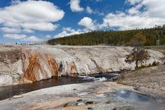 Ανώτερη geyser λεκάνη, εθνικό πάρκο Yellowstone, Ουαϊόμινγκ, Ηνωμένες Πολιτείες της Αμερικής Στοκ εικόνα με δικαίωμα ελεύθερης χρήσης