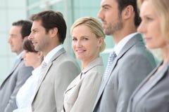 Ανώτεροι υπάλληλοι σε μια σειρά Στοκ εικόνα με δικαίωμα ελεύθερης χρήσης