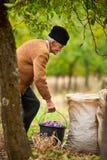 Ανώτερος αγρότης με έναν κάδο Στοκ Εικόνες