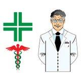 Ανώτερος γιατρός της ιατρικής διανυσματική απεικόνιση