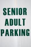 Ανώτερος ενήλικος χώρος στάθμευσης Στοκ εικόνα με δικαίωμα ελεύθερης χρήσης