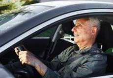 Ανώτερος οδηγός αυτοκινήτων Στοκ εικόνες με δικαίωμα ελεύθερης χρήσης