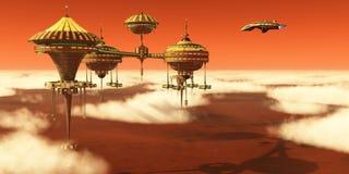 Ανώτερος σταθμός ατμόσφαιρας του Άρη Στοκ φωτογραφίες με δικαίωμα ελεύθερης χρήσης