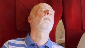 Ανώτερος τολμηρός ύπνος ατόμων στο μεγάλο διεθνές τραίνο Πολύ υψηλή ταχύτητα Μικρό φυσικό τίναγμα απόθεμα βίντεο