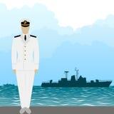 Ανώτερος υπάλληλος αμερικάνικου στρατού ναυτικού Στοκ Εικόνες