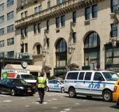 Ανώτερος υπάλληλος κυκλοφορίας NYPD, πόλη της Νέας Υόρκης, NYC, Νέα Υόρκη, ΗΠΑ Στοκ φωτογραφία με δικαίωμα ελεύθερης χρήσης