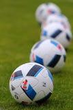 Ανώτερος υπάλληλος matchballs του ΕΥΡΏ 2016 UEFA (Adidas Beau Jeu) Στοκ Εικόνες