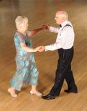 Ανώτερος χορός αιθουσών χορού ζευγών Στοκ Φωτογραφία