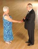 Ανώτερος χορός αιθουσών χορού ζευγών Στοκ εικόνες με δικαίωμα ελεύθερης χρήσης