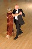 Ανώτερος χορός αιθουσών χορού ζεύγους Στοκ Εικόνα
