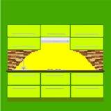 Ανώτερου και χαμηλότερου ντουλάπι επίπλων κουζινών, Στοκ εικόνα με δικαίωμα ελεύθερης χρήσης
