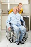 Ανώτερο άτομο στην αναπηρική καρέκλα Στοκ φωτογραφίες με δικαίωμα ελεύθερης χρήσης