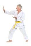 Ανώτερο άτομο karate Στοκ φωτογραφίες με δικαίωμα ελεύθερης χρήσης