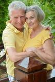 Ανώτερο αγκάλιασμα ζεύγους Στοκ Εικόνα