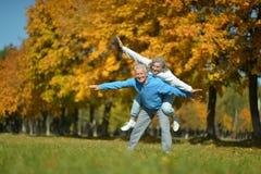 Ανώτερο ζεύγος στο πάρκο Στοκ εικόνες με δικαίωμα ελεύθερης χρήσης
