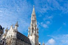 Ανώτερο μέρος του Δημαρχείου - Grandplace Βρυξέλλες, Β Στοκ Φωτογραφία