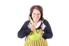 Ανώτερο μαγείρεμα γυναικών Στοκ Εικόνες