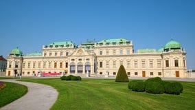 Ανώτερο παλάτι πανοραμικών πυργίσκων στη Βιέννη Στοκ εικόνες με δικαίωμα ελεύθερης χρήσης