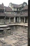 Ανώτερο προαύλιο πετρών σε Angkor Wat, Καμπότζη Στοκ Φωτογραφίες