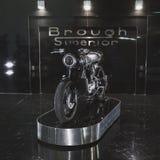 Ανώτερο motobike Brough σε EICMA 2014 στο Μιλάνο, Ιταλία Στοκ Εικόνες