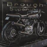 Ανώτερο motobike Brough σε EICMA 2014 στο Μιλάνο, Ιταλία Στοκ Εικόνα