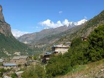 Ανώτερο Pisang, Νεπάλ Στοκ εικόνες με δικαίωμα ελεύθερης χρήσης