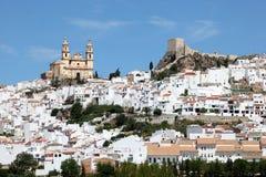 Ανδαλουσιακή πόλη Olvera, Ισπανία στοκ φωτογραφίες