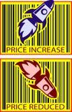 αξία πυραύλων τιμών Στοκ Εικόνες