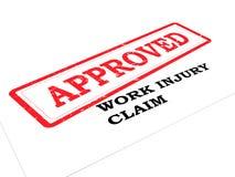 Αξίωση τραυματισμών εργασίας ΕΓΚΕΚΡΙΜΕΝΗ απεικόνιση αποθεμάτων