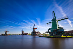 Αξιοθέατα Schans Zaanse δημοφιλή τουριστικά πολύ στην Ολλανδία Στοκ Εικόνες