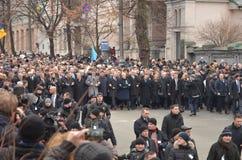 Αξιοπρέπεια Μάρτιος στο ουκρανικό κεφάλαιο Στοκ εικόνα με δικαίωμα ελεύθερης χρήσης
