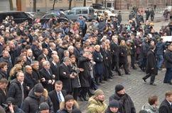 Αξιοπρέπεια Μάρτιος στο ουκρανικό κεφάλαιο Στοκ φωτογραφίες με δικαίωμα ελεύθερης χρήσης