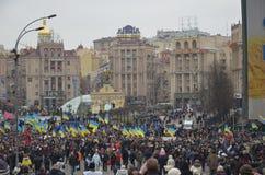 Αξιοπρέπεια Μάρτιος στο ουκρανικό κεφάλαιο Στοκ Εικόνα