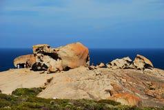 Αξιοπρόσεκτοι βράχοι, εθνικό πάρκο αυλακώματος Flinders Νησί καγκουρό, Νότια Αυστραλία Στοκ Εικόνα