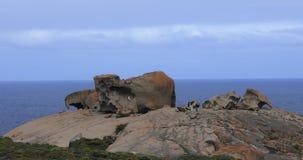 Αξιοπρόσεκτοι βράχοι στο νησί καγκουρό, Αυστραλία 4K απόθεμα βίντεο