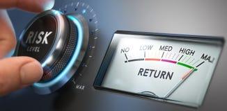 Αξιολόγηση του κινδύνου και υψηλή επιστροφή διανυσματική απεικόνιση