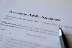Αξιολόγηση του σχεδιαγράμματος προσωπικότητας Στοκ φωτογραφία με δικαίωμα ελεύθερης χρήσης