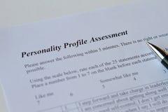 Αξιολόγηση του σχεδιαγράμματος προσωπικότητας Στοκ εικόνες με δικαίωμα ελεύθερης χρήσης