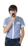απάντηση του τηλεφώνου ατόμων στοκ φωτογραφία με δικαίωμα ελεύθερης χρήσης
