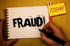 Απάτη γραψίματος κειμένων γραφής κινητήρια κλήση Έννοια που σημαίνει την εγκληματική εξαπάτηση για να πάρει την οικονομική ή προσ Στοκ Φωτογραφίες