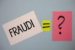 Απάτη κειμένων γραψίματος λέξης κινητήρια κλήση Επιχειρησιακή έννοια για την εγκληματική εξαπάτηση για να λάβει το οικονομικό ή π Στοκ Εικόνες