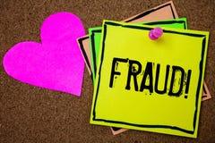 Απάτη κειμένων γραψίματος λέξης κινητήρια κλήση Επιχειρησιακή έννοια για την εγκληματική εξαπάτηση για να πάρει το οικονομικό ή π Στοκ φωτογραφίες με δικαίωμα ελεύθερης χρήσης