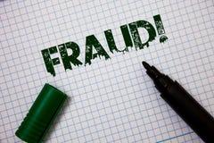 Απάτη κειμένων γραψίματος λέξης κινητήρια κλήση Επιχειρησιακή έννοια για την εγκληματική εξαπάτηση για να λάβει το οικονομικό ή π Στοκ φωτογραφίες με δικαίωμα ελεύθερης χρήσης