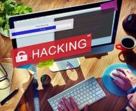 Απάτη που χαράσσει την έννοια Phising απάτης Spam στοκ φωτογραφίες