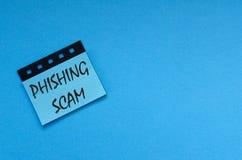 Απάτη Phishing στην αυτοκόλλητη ετικέττα στοκ φωτογραφία