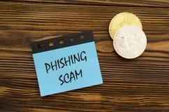 Απάτη Phishing στην αυτοκόλλητη ετικέττα στοκ εικόνες