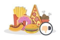 Απέχθεια άχρηστου φαγητού απεικόνιση αποθεμάτων